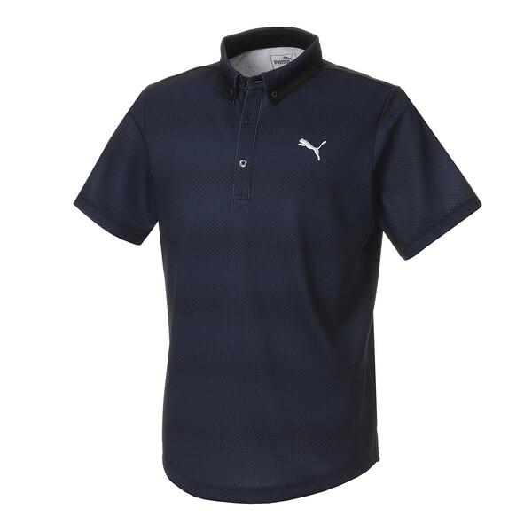 ゴルフ グラデーション コア SSポロシャツ (半袖), Peacoat, large-JPN