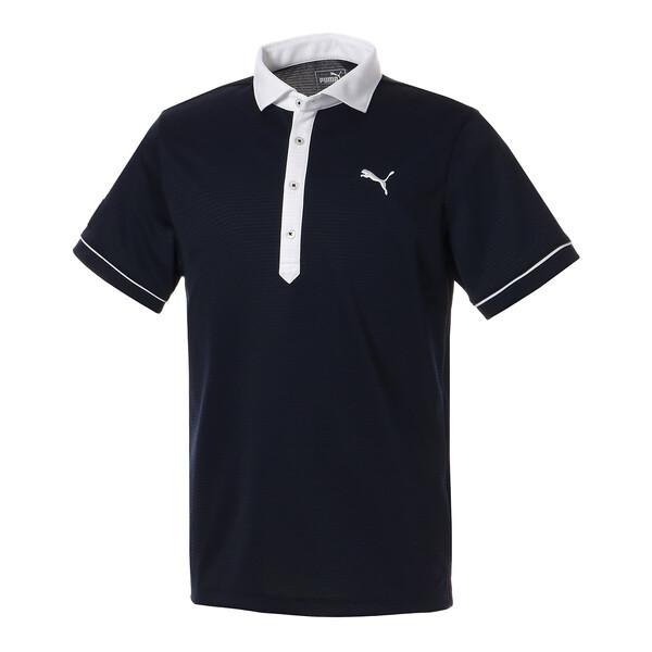 ゴルフ クレリック カラー SSポロシャツ (半袖), Peacoat, large-JPN