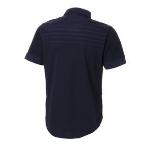 Thumbnail 2 of ゴルフ フェイドストライプジャカード SSポロシャツ (半袖), Peacoat, medium-JPN