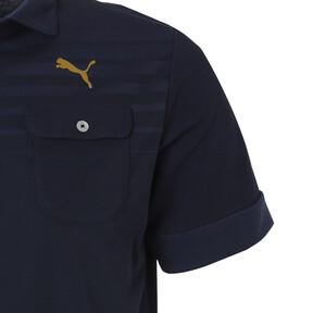 Thumbnail 4 of ゴルフ フェイドストライプジャカード SSポロシャツ (半袖), Peacoat, medium-JPN