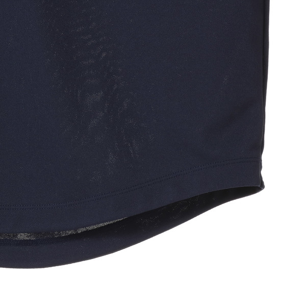 ゴルフ フェイドストライプジャカード SSポロシャツ (半袖), Peacoat, large-JPN