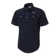 ゴルフ フェイドストライプジャカード SSポロシャツ