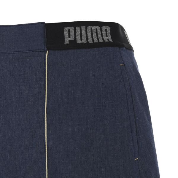ゴルフ ウィメンズ シャンブレー スカート, Peacoat, large-JPN
