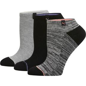 Thumbnail 1 of Women's No Show Socks (3 Pack), MD COMBO, medium