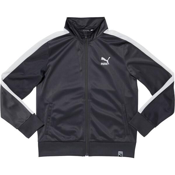 Boys' T7 Track Jacket JR, IRON GATE, large
