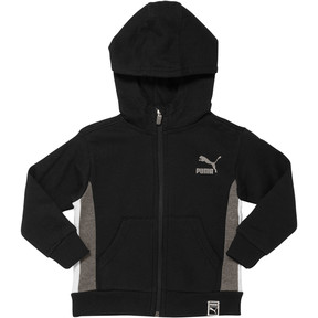 Thumbnail 1 of Boy's Colorblock Hoodie INF, PUMA BLACK, medium
