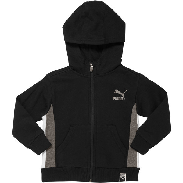 Boy's Colorblock Hoodie INF, PUMA BLACK, large