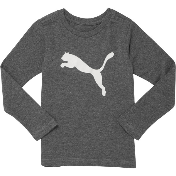 Cotton Long Sleeve Cat Tee INF, CHARCOAL HEATHER, large