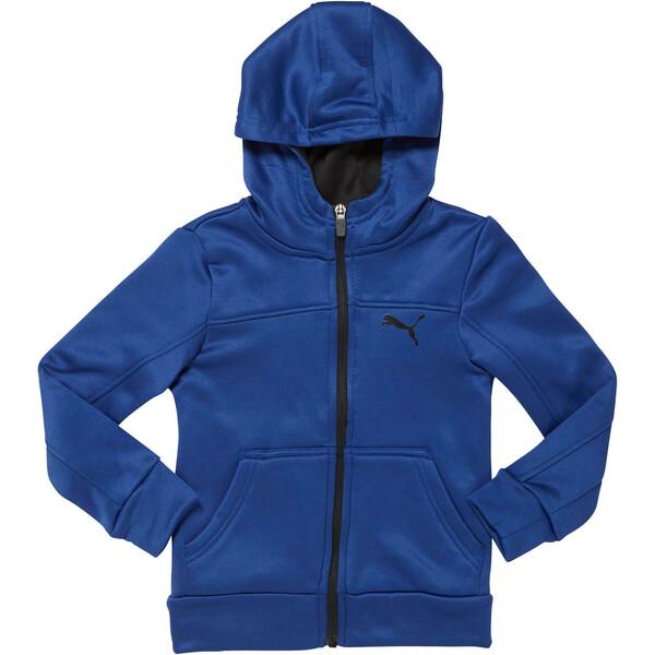 Little Kids' Fleece Full Zip Hoodie, SODALITE BLUE, large