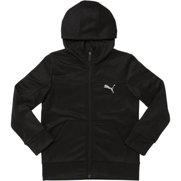 Fleece Zip Up Hoodie PS, PUMA BLACK, large