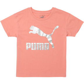 Thumbnail 1 of Little Kids' Cotton Jersey Drop Shoulder Tee, SHELL PINK, medium
