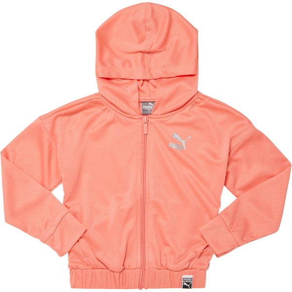 FLAT BACK MESH HOODIE- PS, SHELL PINK, large