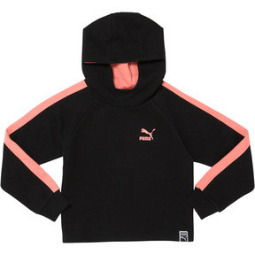 Thumbnail 1 of Little Kids' Pullover Hoodie, PUMA BLACK, medium