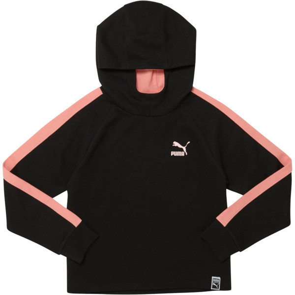 PULLOVER YOUTH HOODIE, PUMA BLACK, large