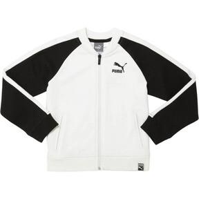 Thumbnail 1 of Little Kids' Cotton Fleece T7 Track Jacket, PUMA WHITE, medium