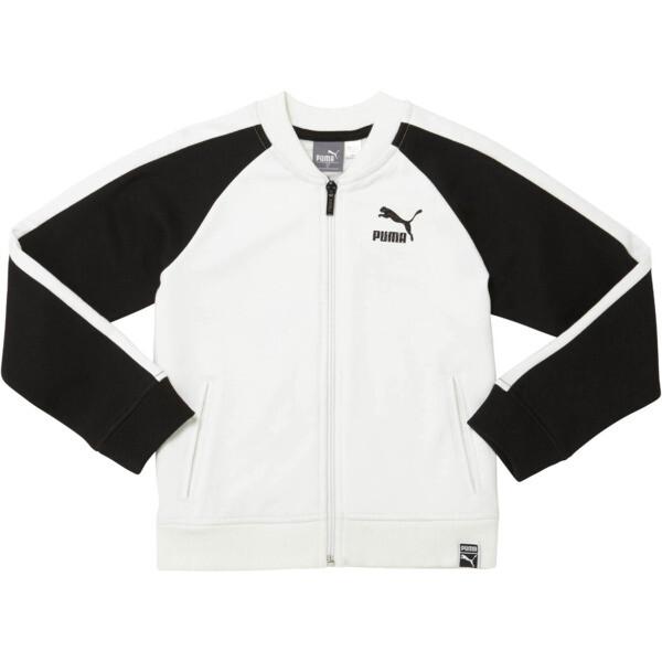 Little Kids' Cotton Fleece T7 Track Jacket, PUMA WHITE, large
