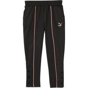 Thumbnail 1 of Little Kids' Brushed Back Pants, PUMA BLACK, medium