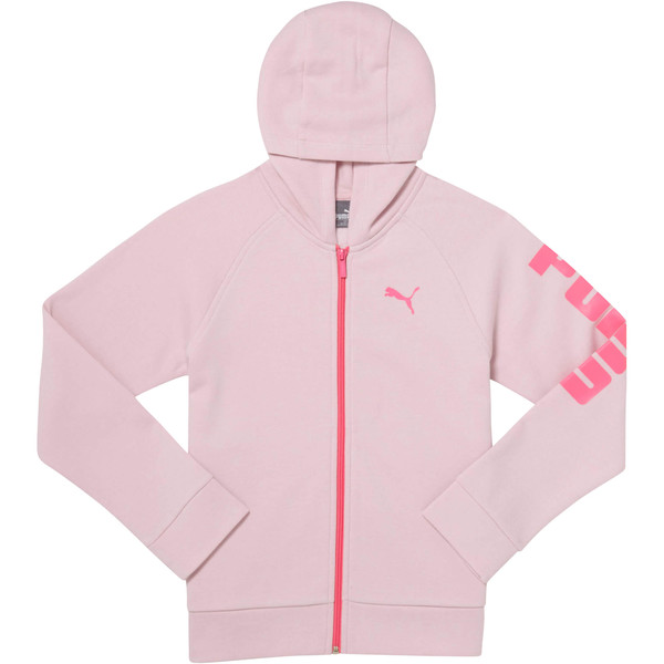 Girls' Fleece Hoodie JR, WINSOME ORCHID, large