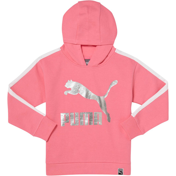 Girls T7 Oversize Hoodie INF, KNOCKOUT PINK, large