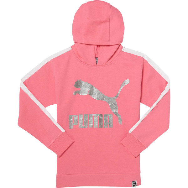 Girls' Oversized T7 Hoodie JR, KNOCKOUT PINK, large