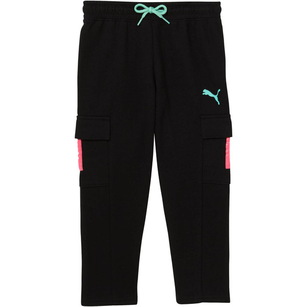 Little Kids' Cargo Pants, PUMA BLACK, large