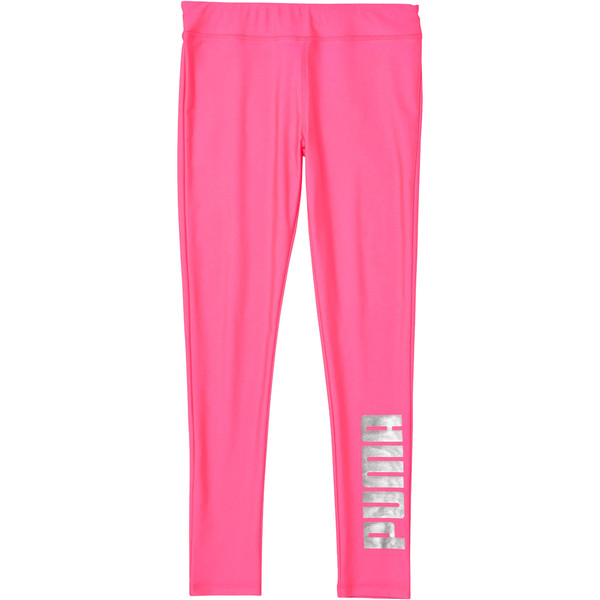 Shiny Leggings JNR, KNOCKOUT PINK, large