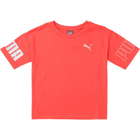Thumbnail 1 of Little Kids' Cotton Jersey Oversized Tee, BRIGHT PLASMA, medium