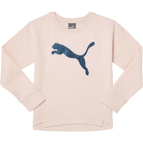 Thumbnail 1 of Girl's Fleece Crewneck Pullover PS, PEARL, medium