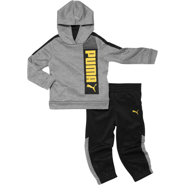 Toddler Pullover Tech Fleece Set, CHARCOAL HEATHER, large