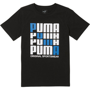 Thumbnail 1 of Boys' Cotton Jersey Tee JR, PUMA BLACK, medium