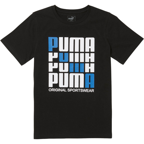 Boys' Cotton Jersey Tee JR, PUMA BLACK, large
