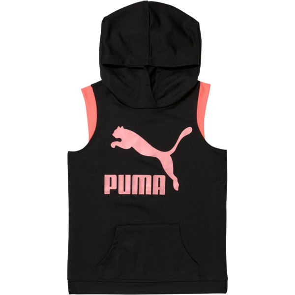 Girls' Fashion Hoodie JR, PUMA BLACK, large