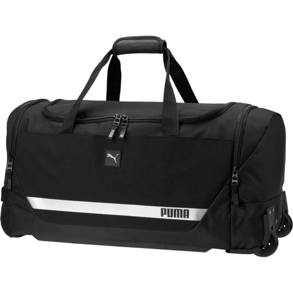 "PUMA Formation 2.0 24"" Rolling Duffel Bag, Black, large"