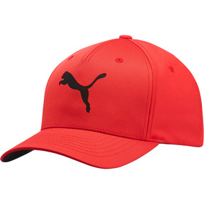 Thumbnail 1 of PUMA Laser Flexfit Hat, Red/Black, medium