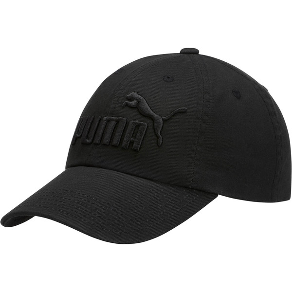 PUMA #1 Relaxed Fit Adjustable Hat, Black, large