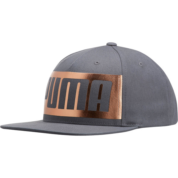 Men's Foil Wrap Snapback, Dark Gray, large