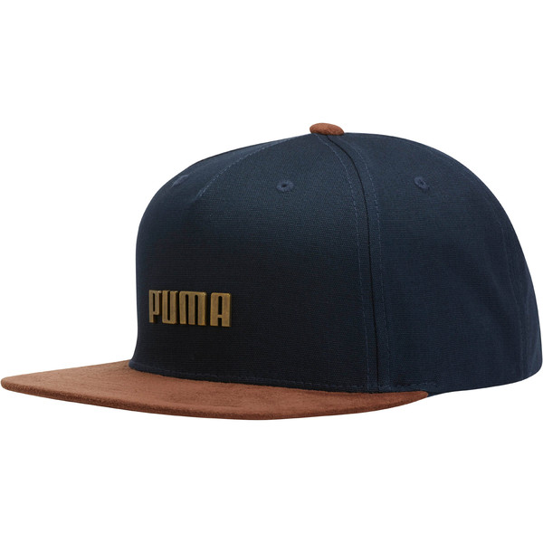 PUMA Letterman Flatbill Adjustable Hat, Navy, large