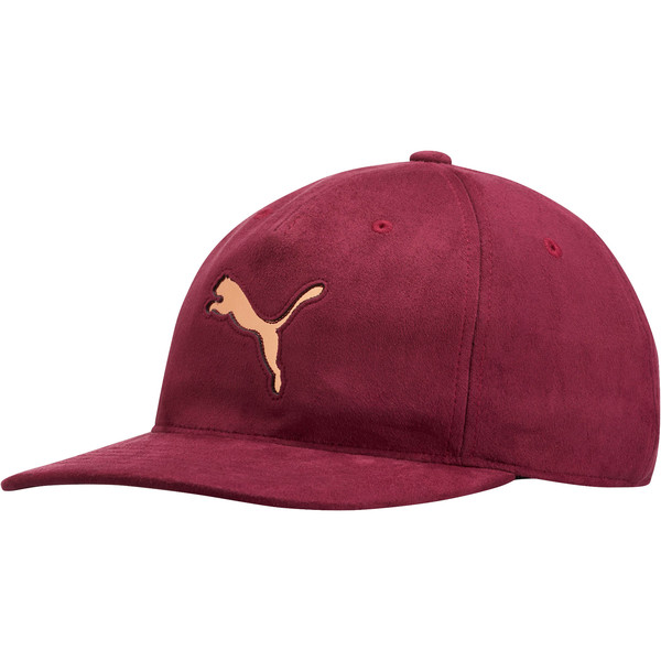 Women's Suede Relaxed Fit Hat, Maroon, large