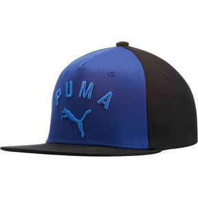 Thumbnail 1 of PUMA Griffin Youth Flatbill Hat, Blue/Black, medium