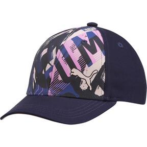Thumbnail 1 of PUMA Forward Youth Adjustable Hat, Navy/Pink, medium