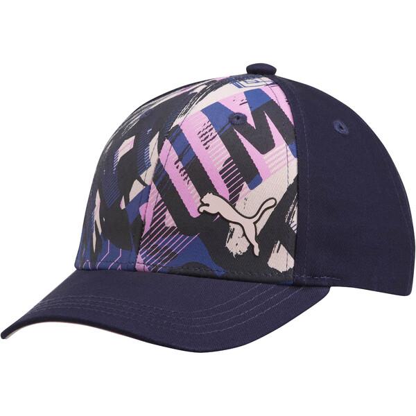 PUMA Forward Youth Adjustable Hat, Navy/Pink, large