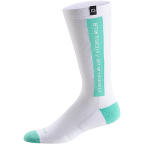 Thumbnail 1 of PUMA x EMORY JONES Men's Crew Socks [1 Pair], White-Biscay Green, medium