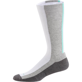 Thumbnail 1 of PUMA x EMORY JONES Men's Crew Socks [1 Pair], Lt. Heather Grey-Charcoal He, medium
