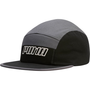 Thumbnail 1 of Streak 5 Panel Adjustable Cap, Grey/Black, medium