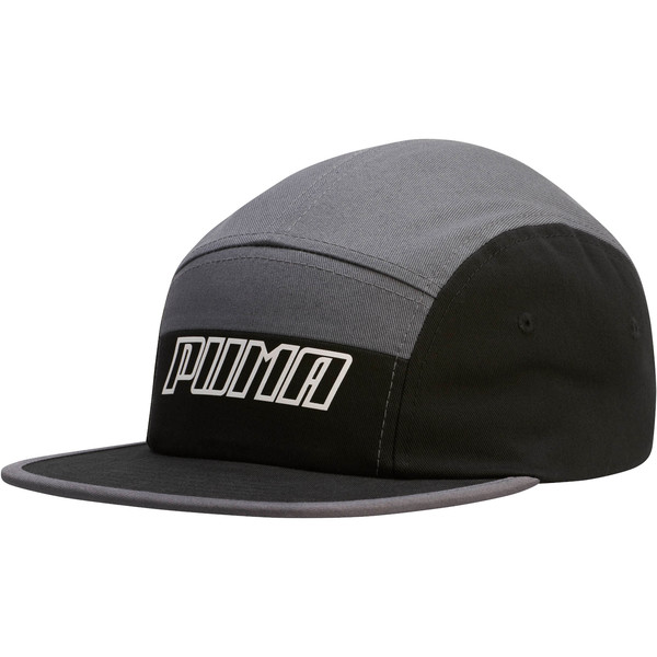 Streak 5 Panel Adjustable Cap, Grey/Black, large