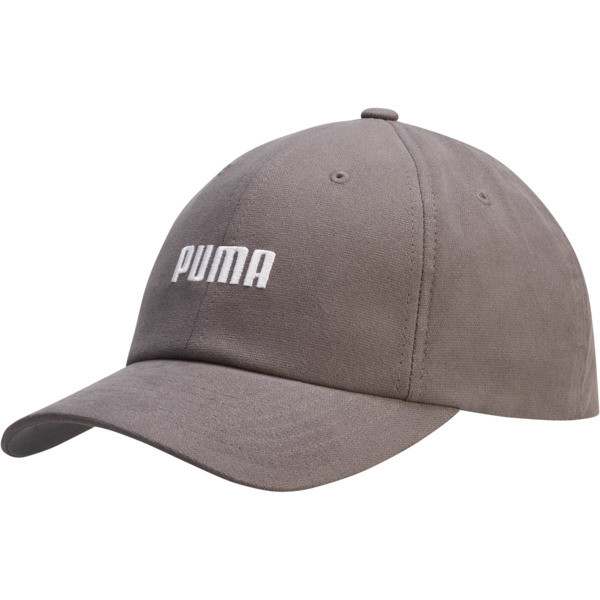 Emblem Relaxed Fit Adjustable Dad Cap, Charcoal, large