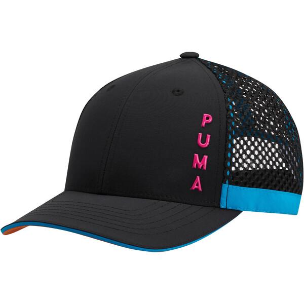Upward Performance Women's Adjustable Cap, Black/Multi, large