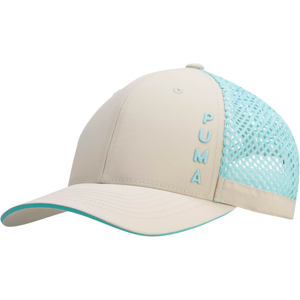 Upward Performance Women's Adjustable Cap, GREY/BLUE, large