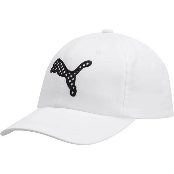 Steep Performance Women's Adjustable Cap, White/Black, large