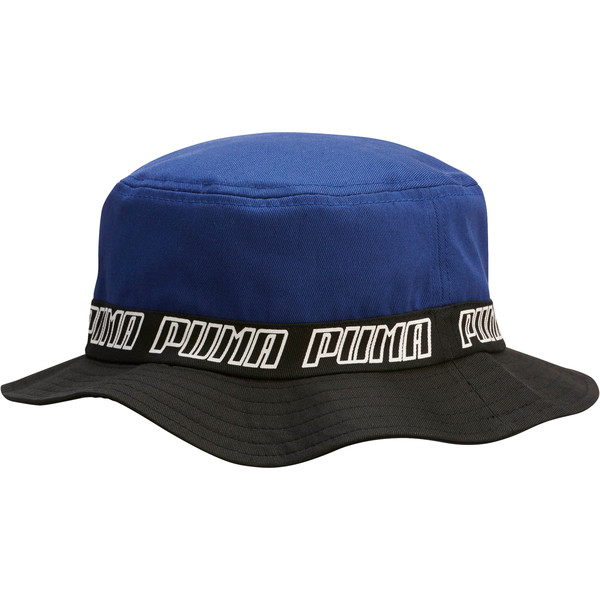 PUMA Bucket Hat, Blue/Black, large